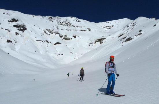 Bateig d'esqui de muntanya als Pirineus catalunya